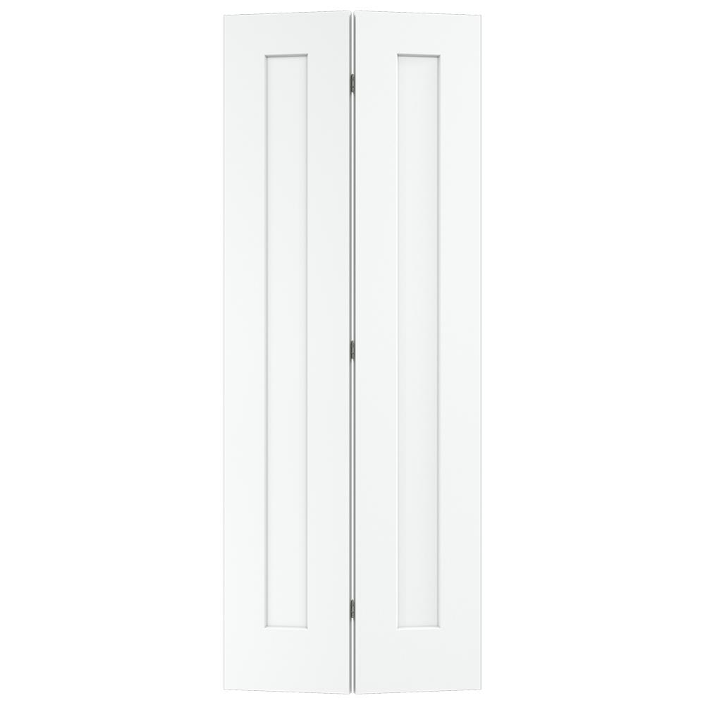 30 in. x 80 in. Madison White Painted Smooth Molded Composite