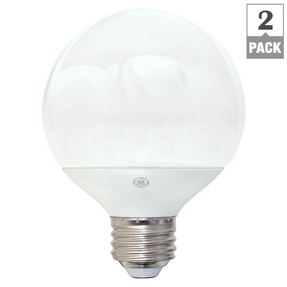 GE GE 60W Equivalent Soft White G25 Globe Dimmable LED Light Bulb (2-Pack)