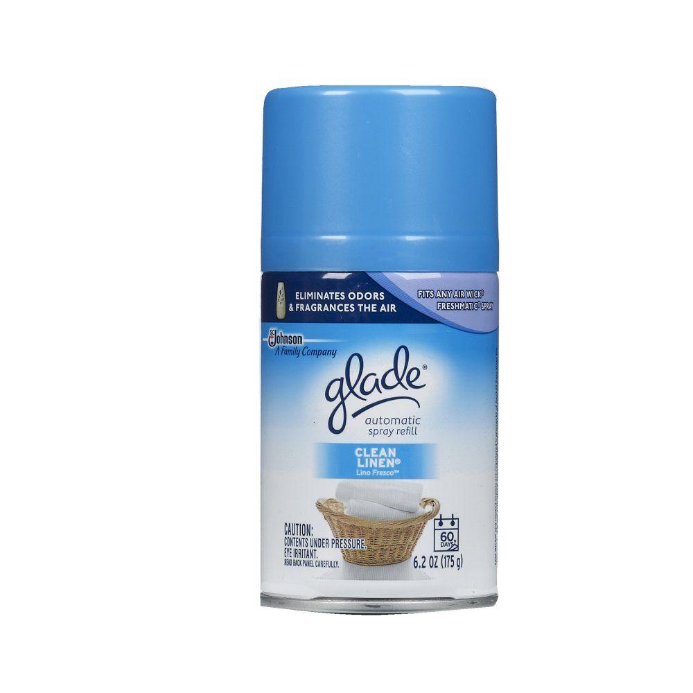 Glade 6.2 oz. Clean Linen Automatic Air Freshener Spray Refill (6-Pack)-71773