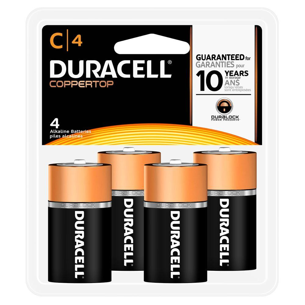 Duracell Coppertop C Battery (4-Pack)