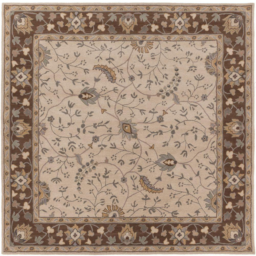 Elam Chocolate 6 ft. x 6 ft. Square Indoor Area Rug