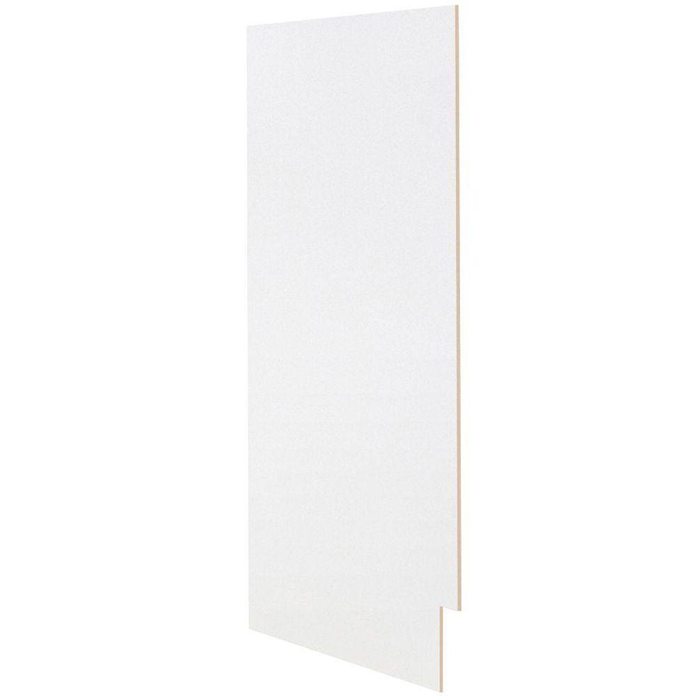Hampton Bay 12x30x.25 in. Matching Wall End Panel in Satin White