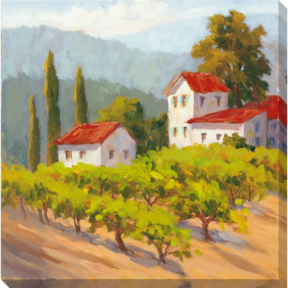 NEP Art 40 in. x 40 in. Glorious Estate II Oversized Canvas Gallery Wrap