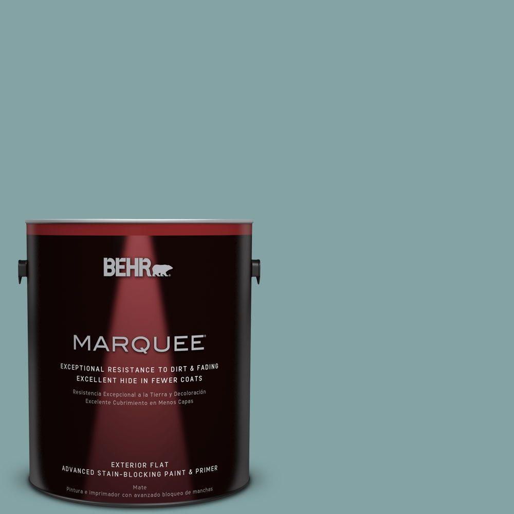 BEHR MARQUEE 1-gal. #MQ6-7 Schooner Flat Exterior Paint-445401 - The Home