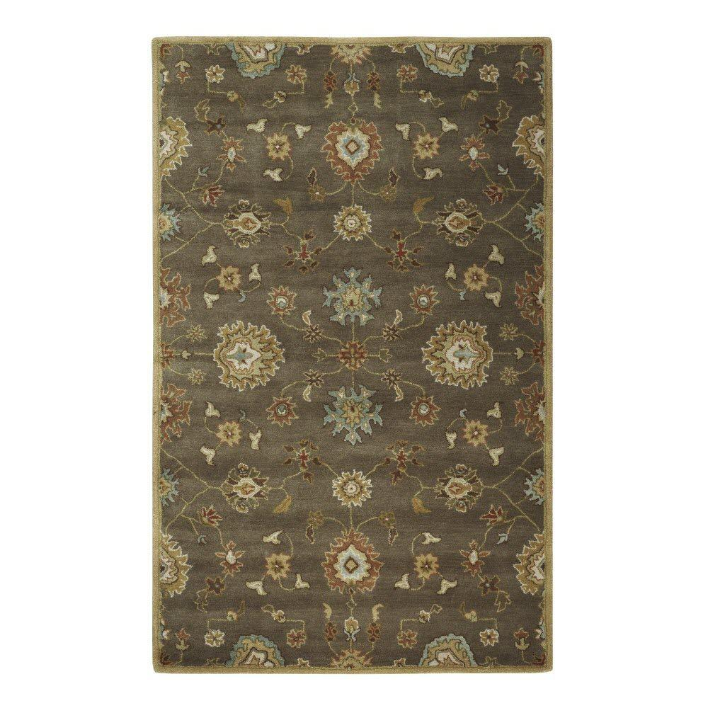 Home Decorators Collection Oliver Grey/Brown 9 ft. 9 in. x 13 ft. 9 in. Area Rug
