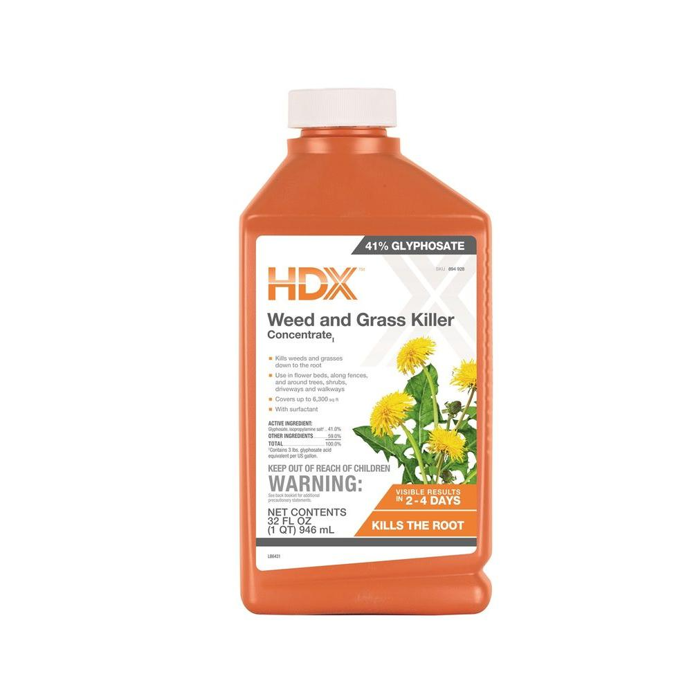 HDX 32 oz. Weed and Grass Killer Concentrate