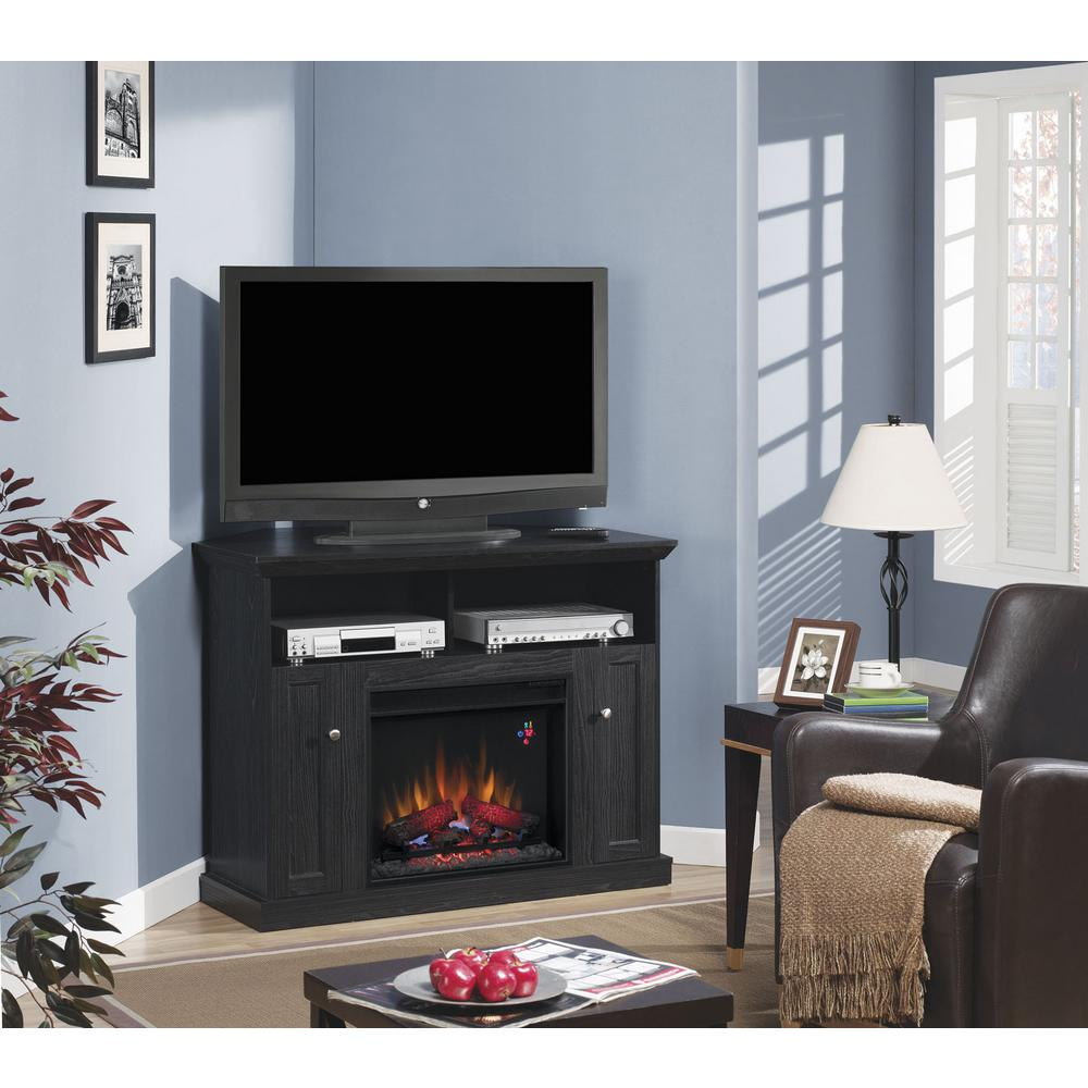 Home Decorators Collection Charles Mill 46 In Infrared Convertible Console Electric Fireplace