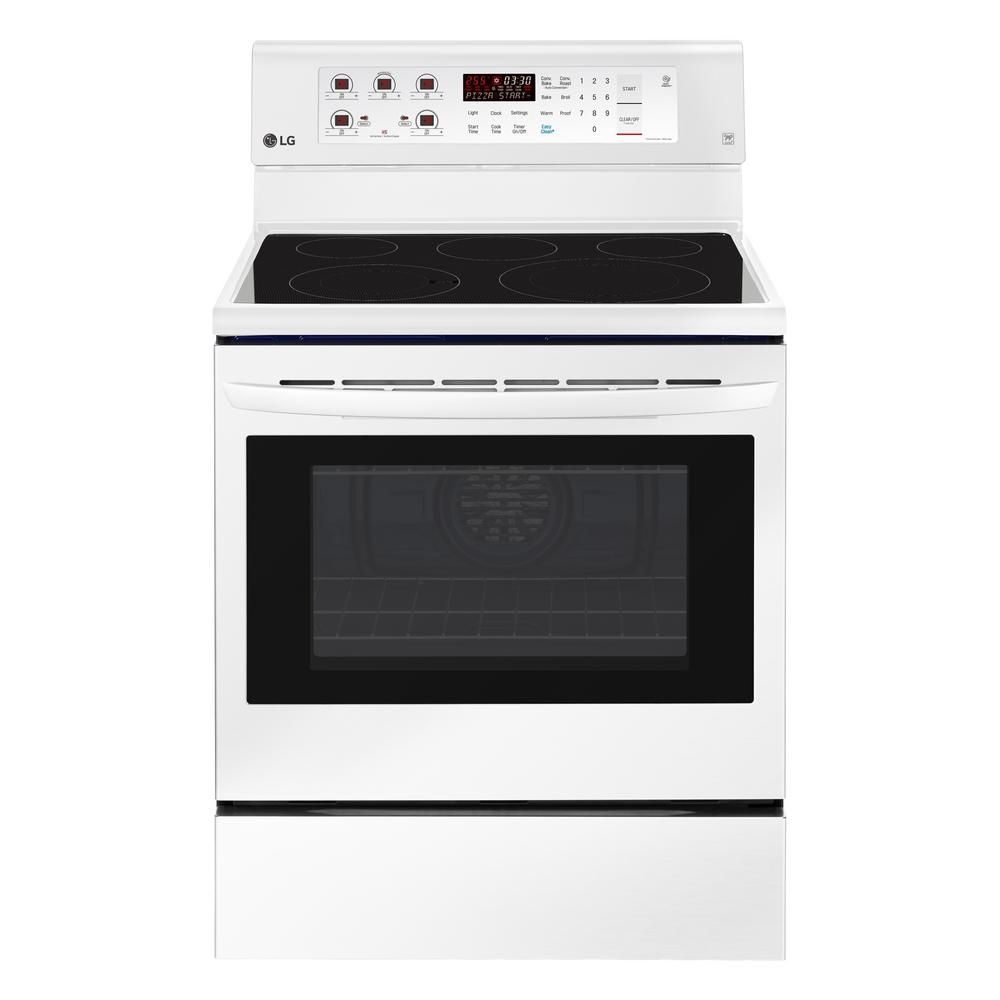 6.3 cu. ft. Electric Range with Convection Oven in Smooth White
