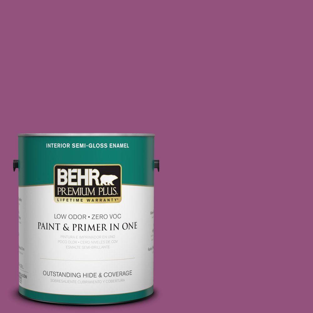 BEHR Premium Plus 1-gal. #P110-7 Xoxo Semi-Gloss Enamel Interior Paint
