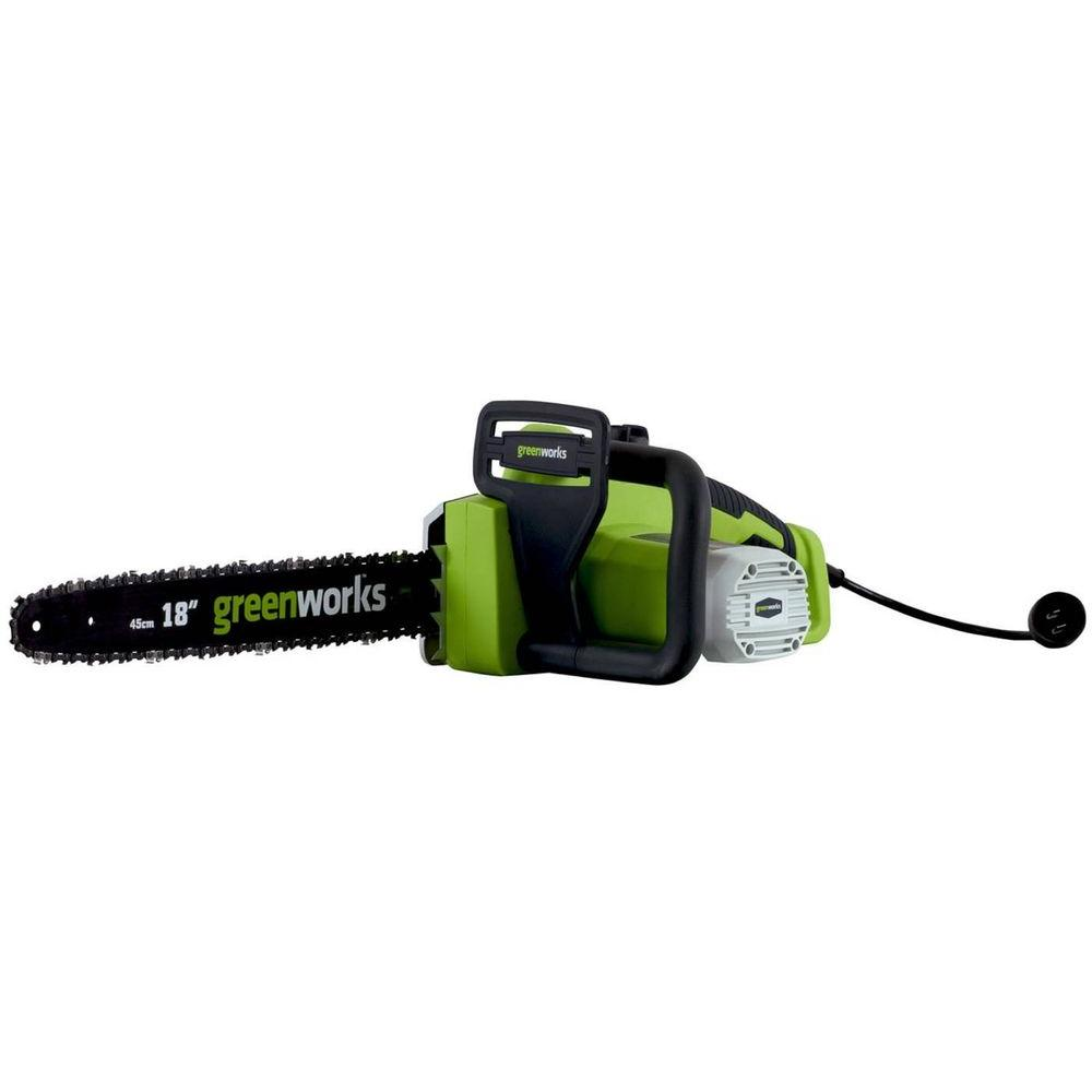 Greenworks 18 in. 13 Amp Electric Chainsaw