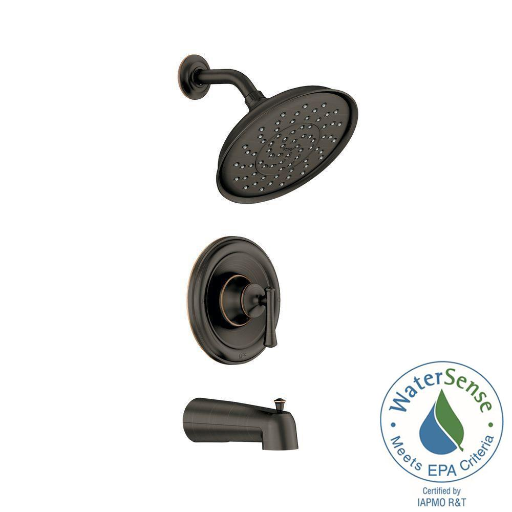 Ashville Single-Handle 1-Spray Tub and Shower Faucet with Valve in Mediterranean