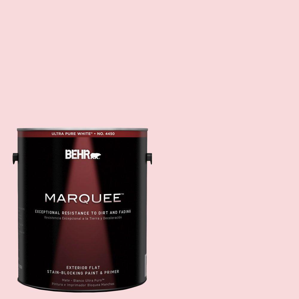 1-gal. #130C-1 Powdered Blush Flat Exterior Paint