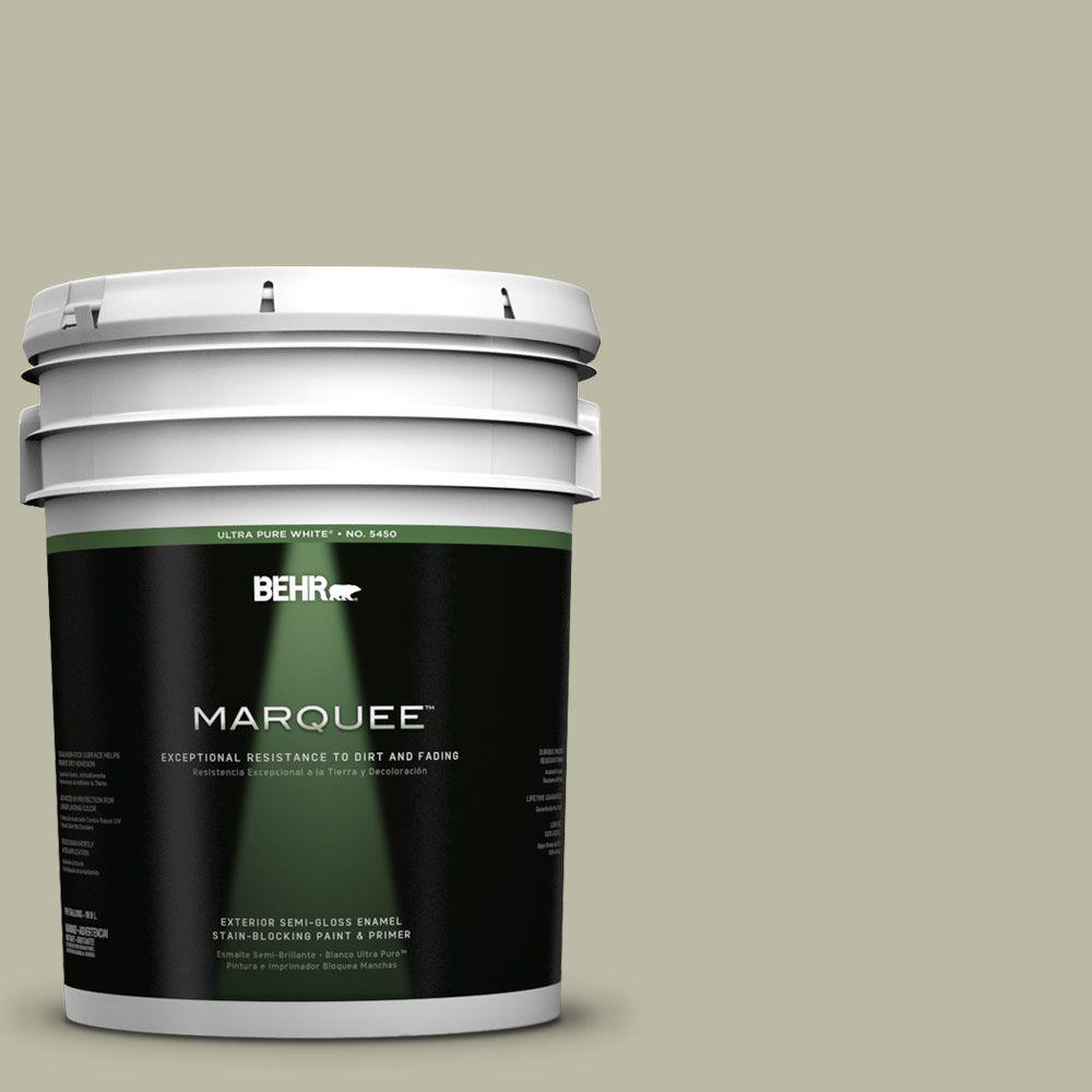 BEHR MARQUEE 5-gal. #400F-4 Restful Semi-Gloss Enamel Exterior Paint