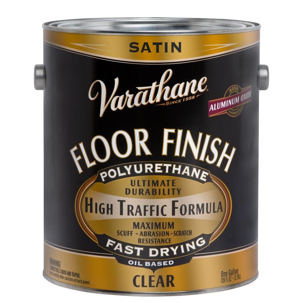 1 gal. Floor Finish Clear Satin Oil-Based Interior Polyurethane (Case of