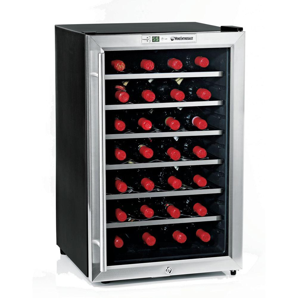 Wine Enthusiast 28-Bottle Silent Wine Cooler-DISCONTINUED