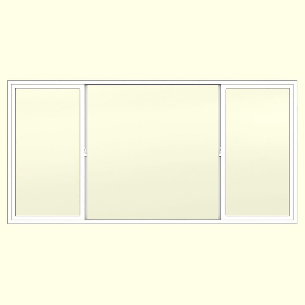 JELD-WEN 95.75 in. x 47.5 in. V-2500 XOX Horizontal Sliding Vinyl Window - White