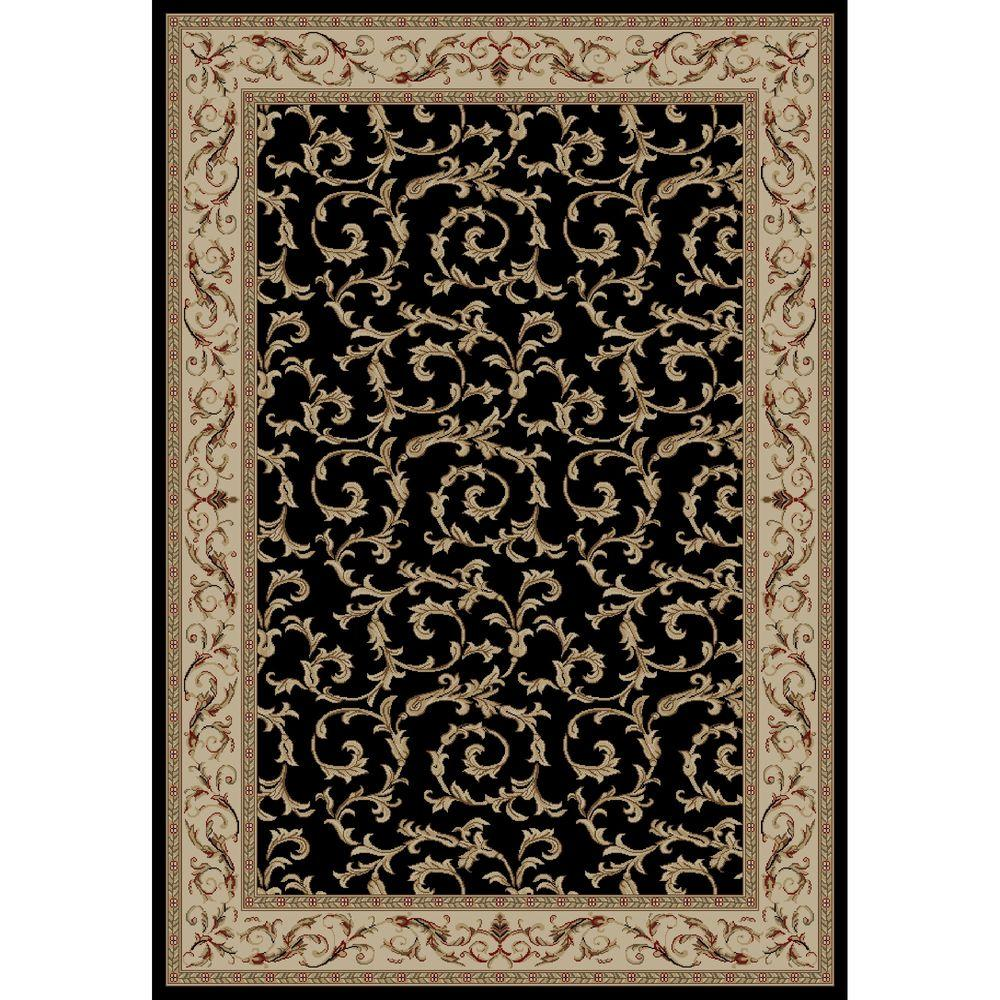 Concord Global Trading Jewel Veronica Black 2 ft. 7 in. x 4 ft. Accent Rug