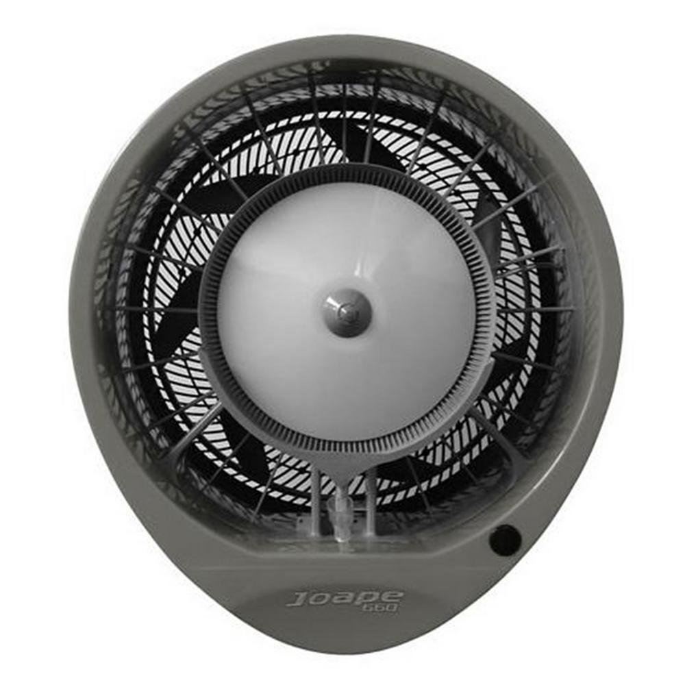 Copacabana 29 in. Wall Mount Misting Fan in Gray, Cools 1500