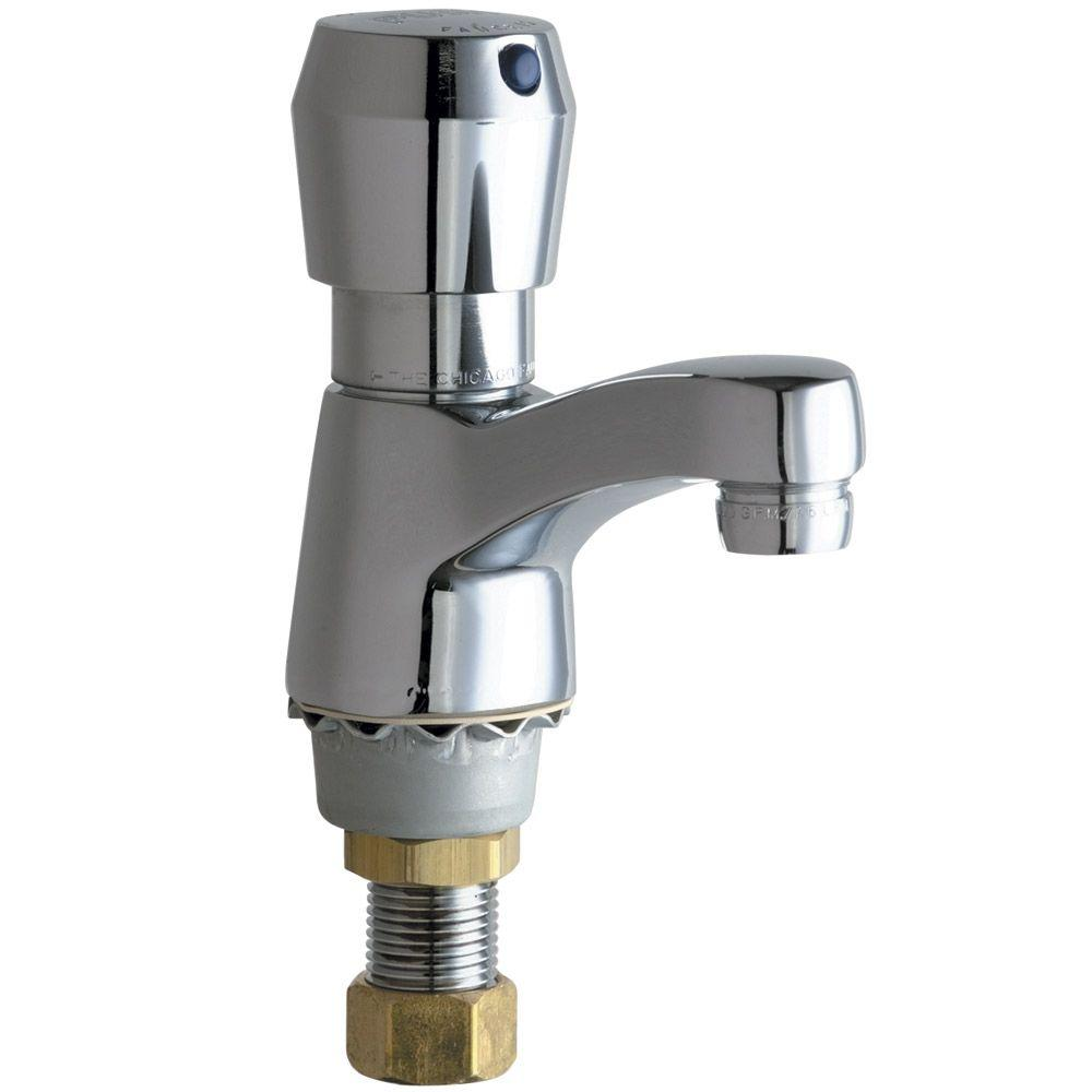 Chicago Faucets Single Hole Single-Handle Supply MVP Metering Sink Bathroom Faucet