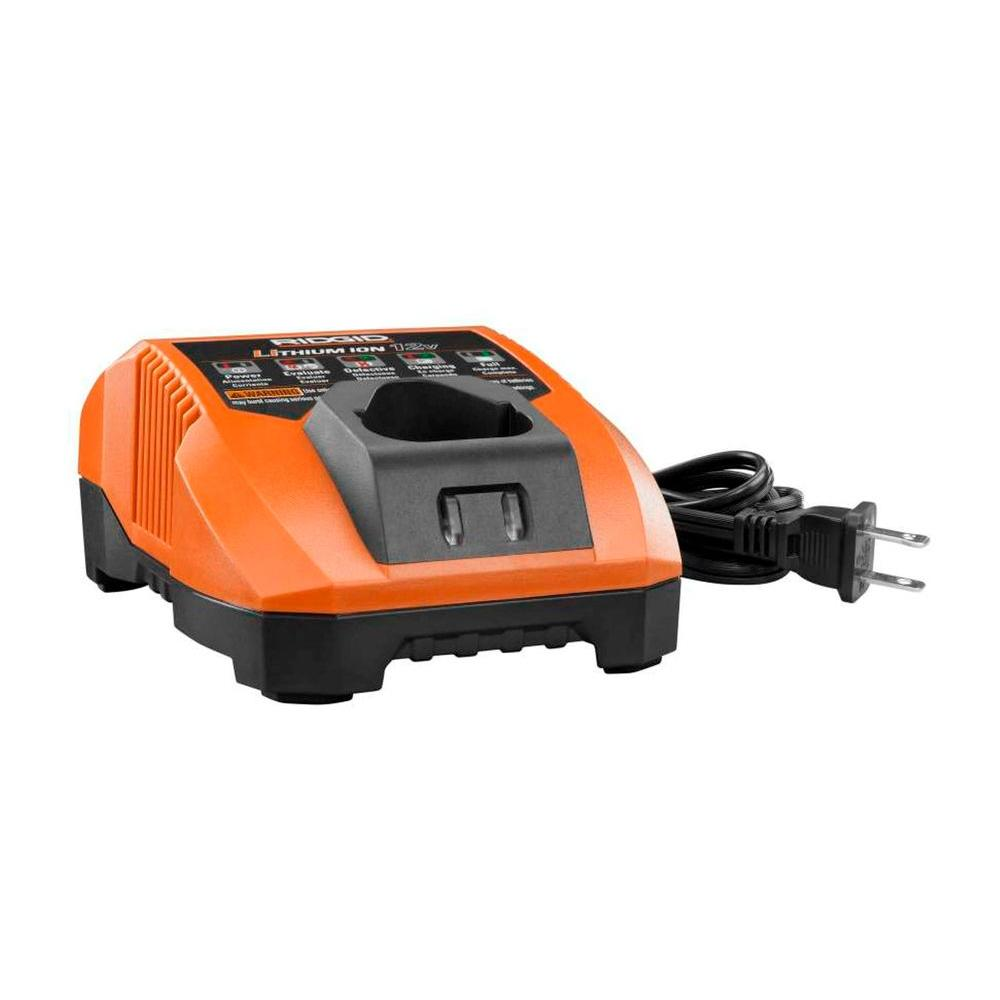 RIDGID 12-Volt Battery Charger-AC86049 - The Home Depot