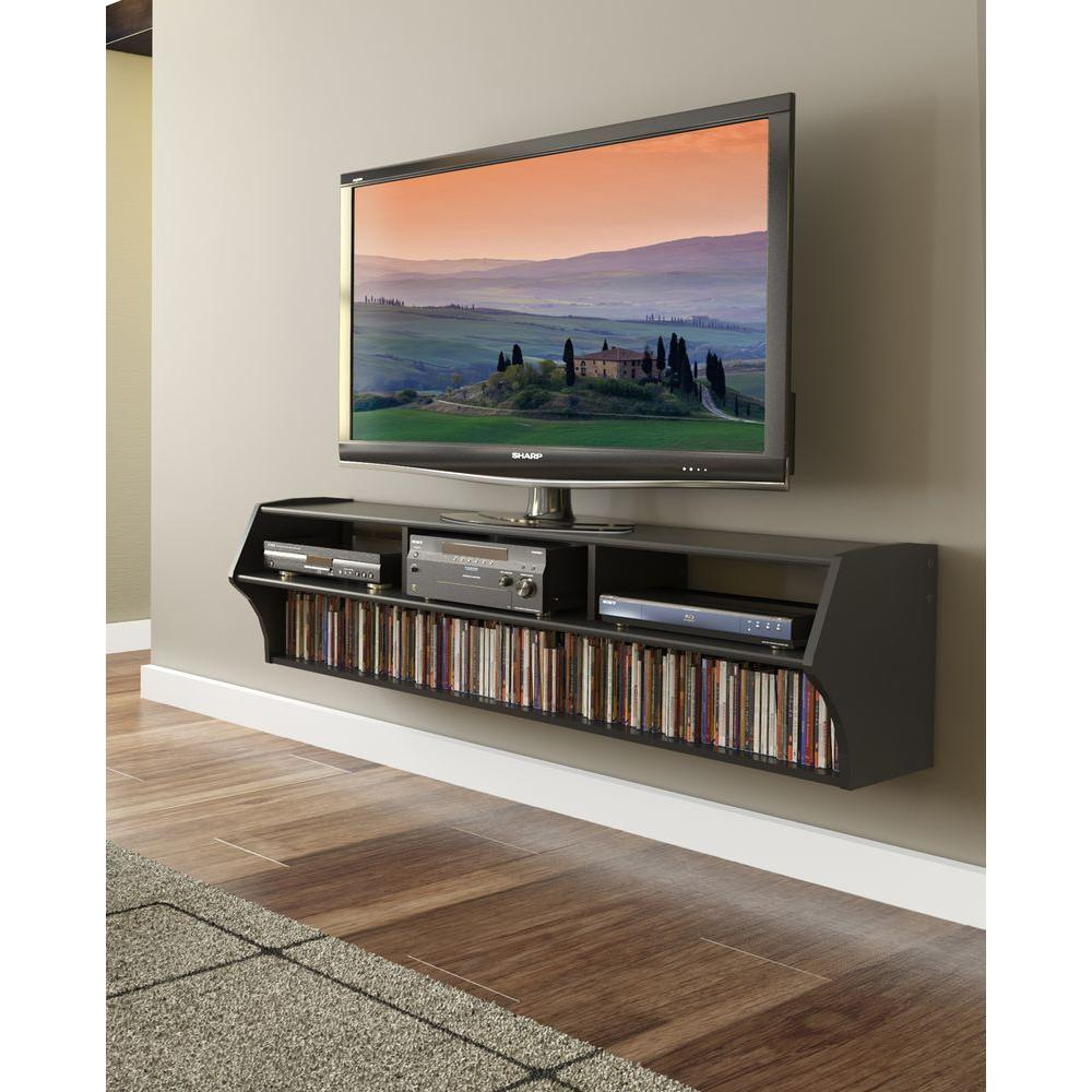 Wall Media Cabinet Prepac Altus Black Entertainment Center Bcaw 0208 1 The Home Depot