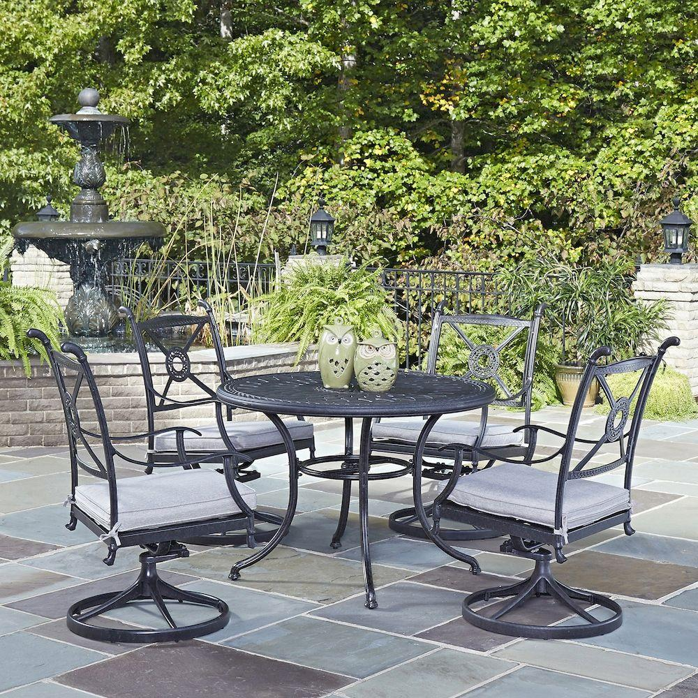 Athens Charcoal 5-Piece Patio Dining Set with Cushions