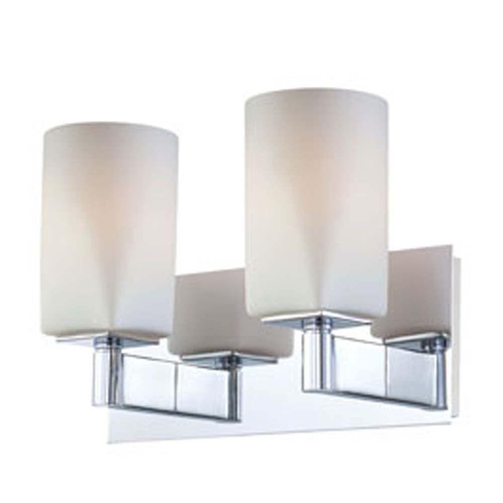 Spectra 2-Light Chrome Incandescent Wall Vanity