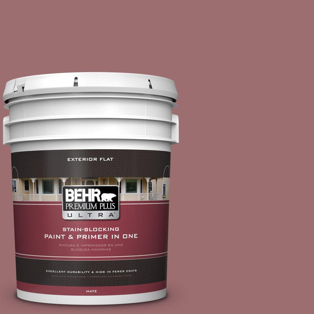 5-gal. #150F-5 Mulled Wine Flat Exterior Paint
