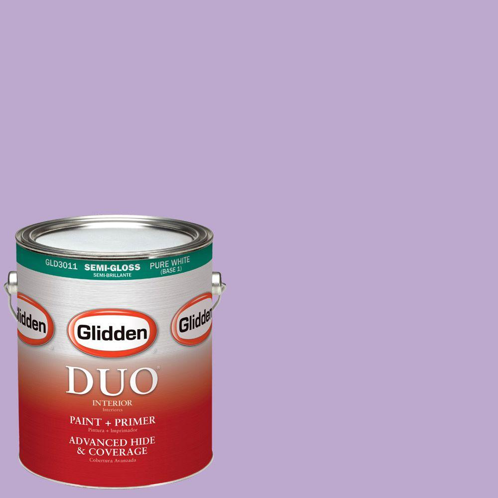 Glidden DUO 1-gal. #HDGV55 Sugared Plum Semi-Gloss Latex Interior Paint with Primer