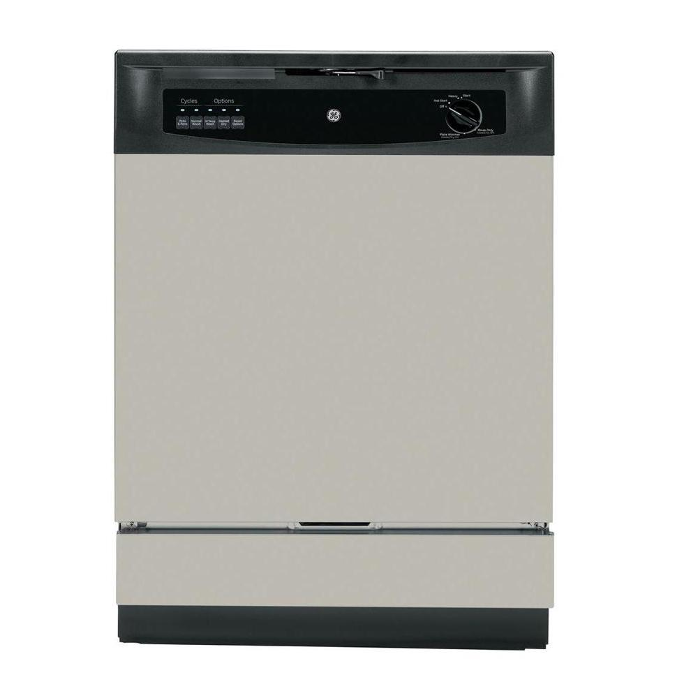 Silverware Dishwasher Ge Front Control Dishwasher In Silver Gsd3340ksa The Home Depot
