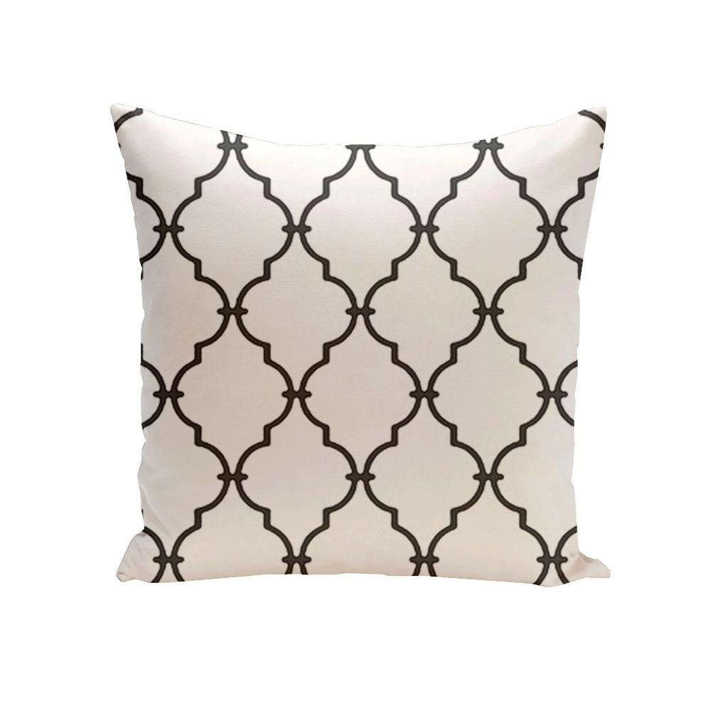 16 in. x 16 in. Trellis Decorative Pillow in White-PGN6WH1-16 -