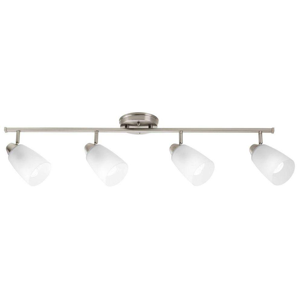 Progress Lighting Wisten Collection 4 Light Brushed Nickel Track