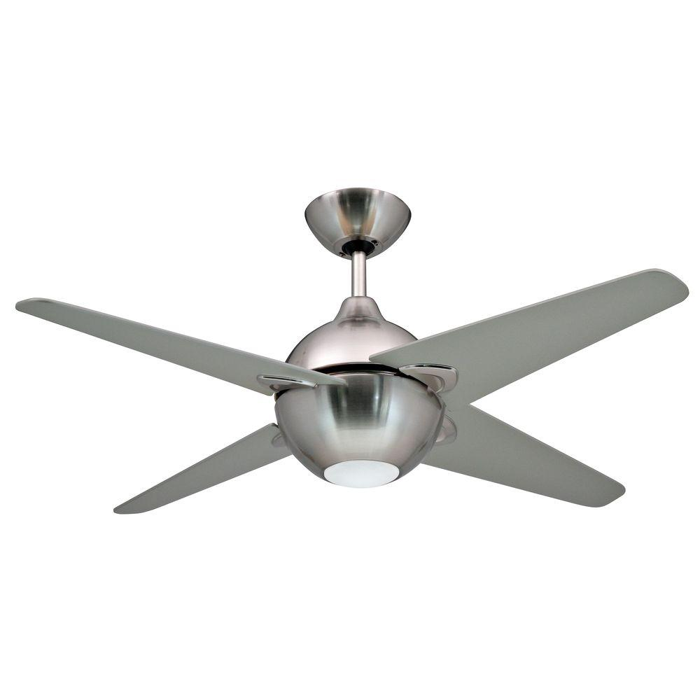 Yosemite Home Decor Spectrum Collection 42 in. Indoor Brushed Nickel Ceiling Fan with Light Kit-DISCONTINUED