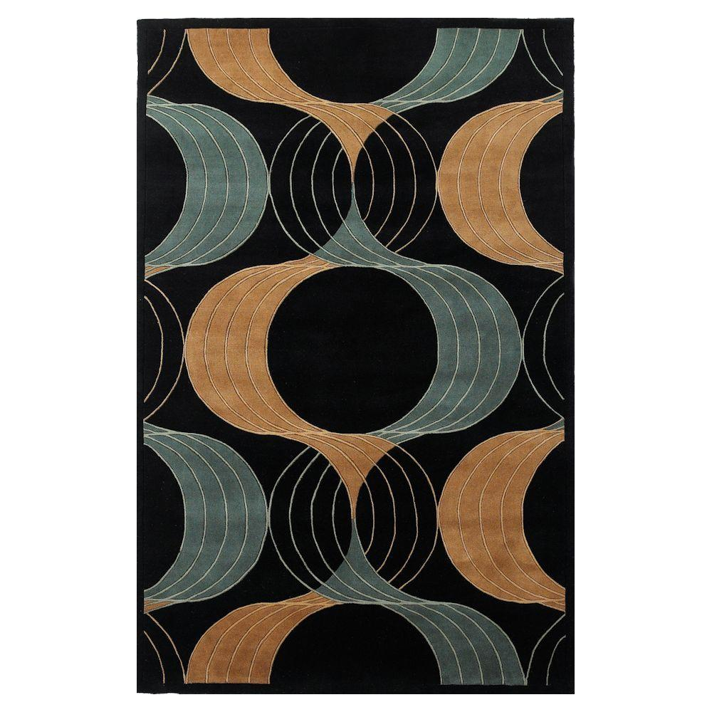 Kas Rugs Signature Promotion Black 8 ft. x 11 ft. Area Rug