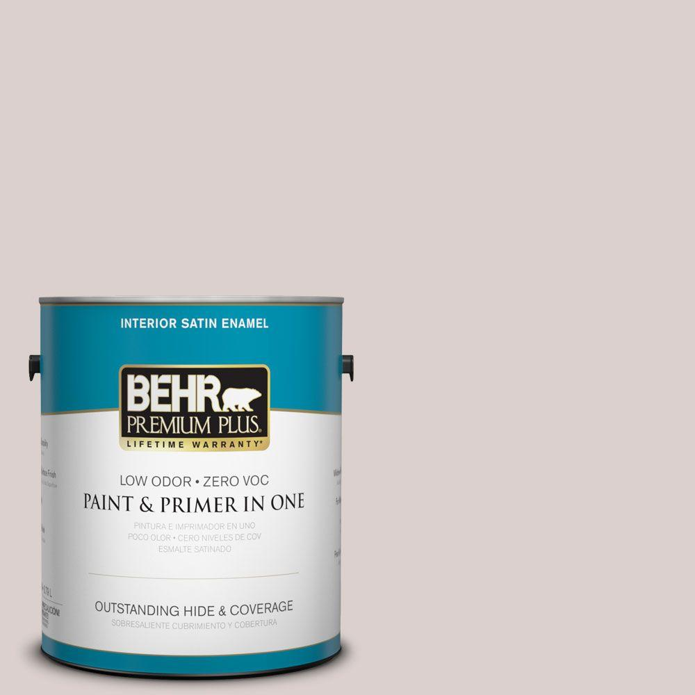 BEHR Premium Plus 1-gal. #N130-1 Pearls and Lace Satin Enamel Interior Paint