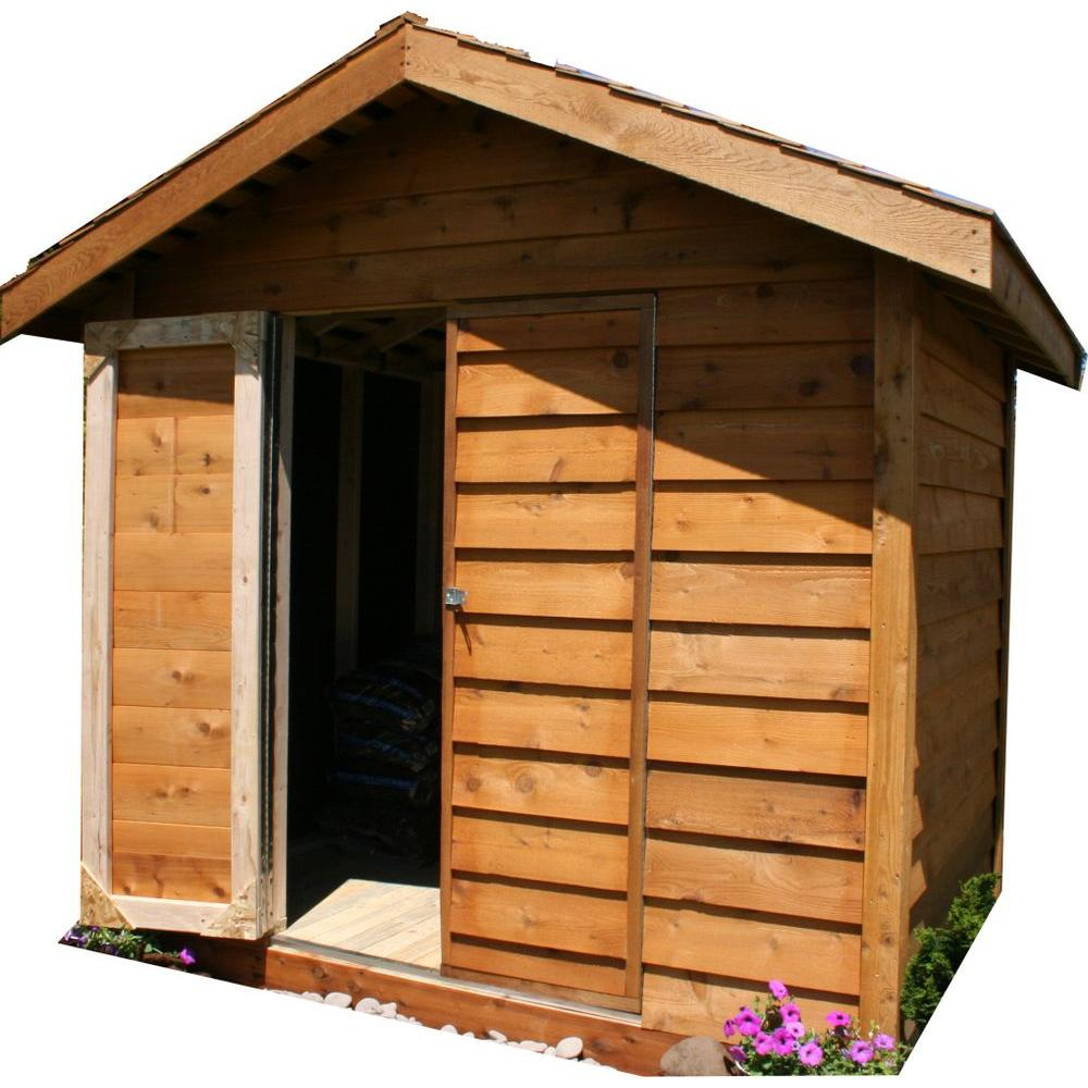 Star Lumber 8 ft. x 6 ft. Cedar Storage Shed-DISCONTINUED