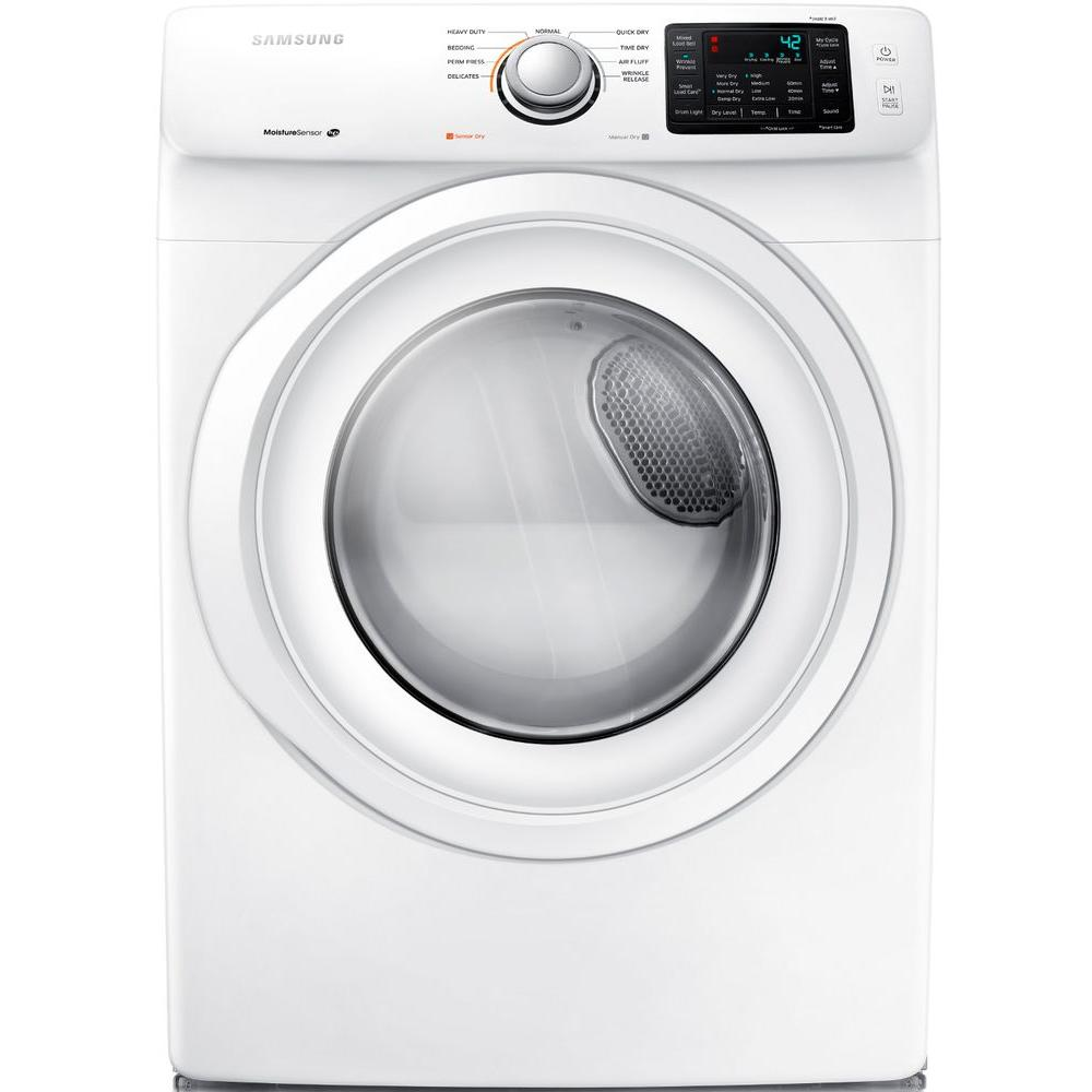 Samsung 7.5 cu. ft. Electric Dryer in White