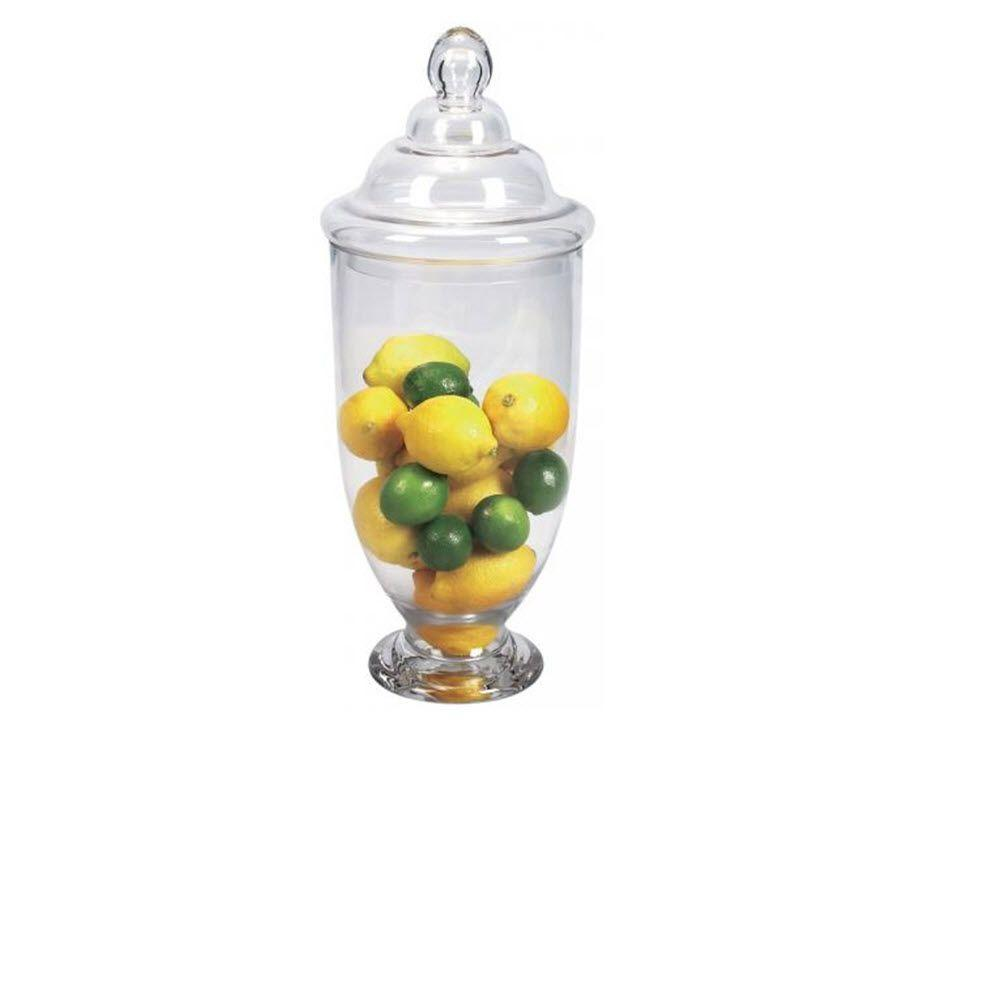 Home Decorators Collection Apothecary Clear Glass 23 in. H x 8 in. Glass Jars