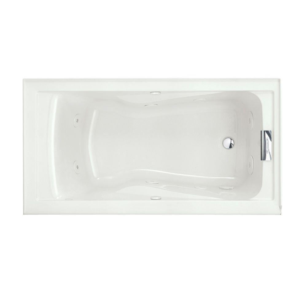 Evolution 5 ft. Whirlpool Tub with EverClean Right Hand Drain in