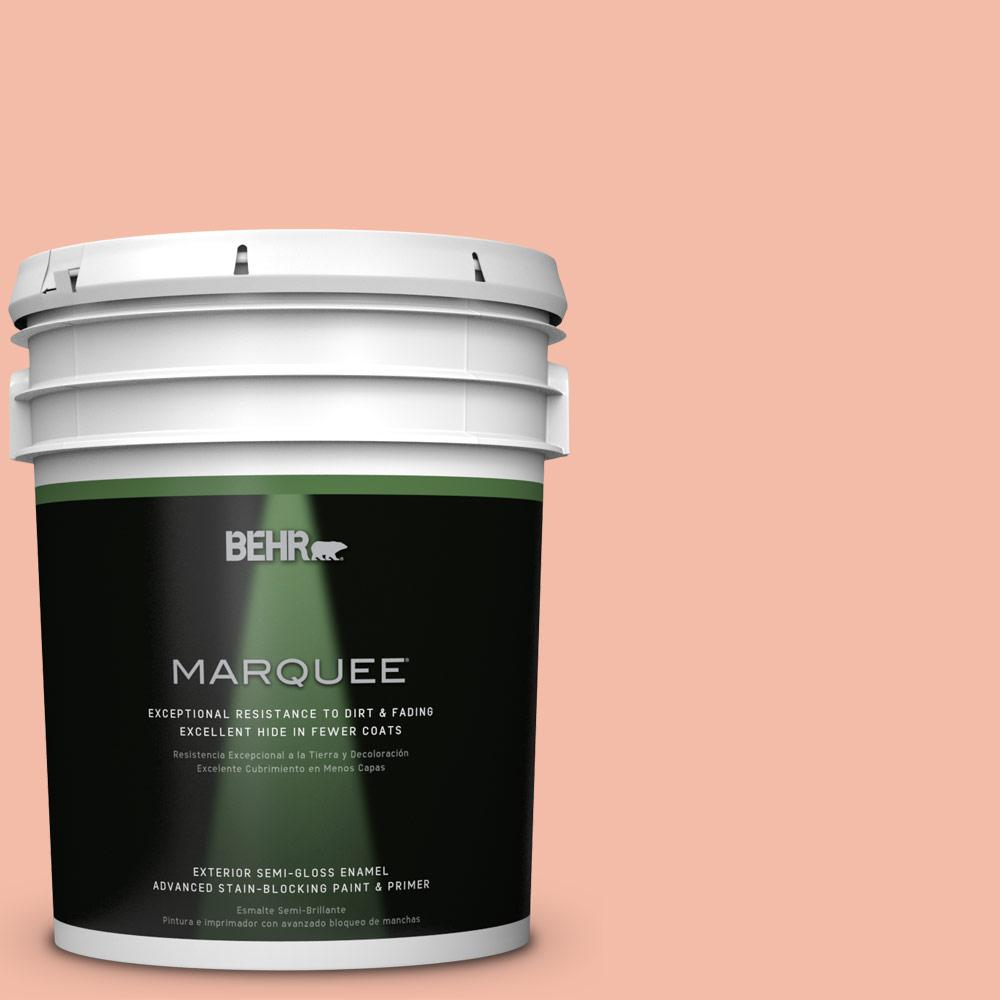 BEHR MARQUEE 5 gal. #HDC-CT-14A Sunkissed Apricot Semi-Gloss Enamel Exterior