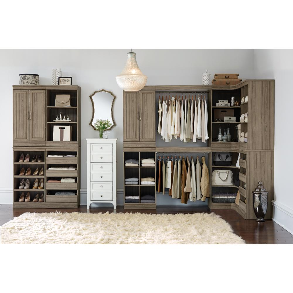 Home Decorators Collection Manhattan 40 in. H Natural Modular Storage Shoe