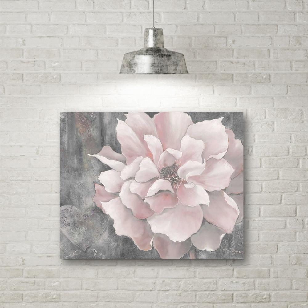 "Magnolia Wall Art 16 in. x 20 in. ""pink and gray magnolia"" canvas wall art-web-sc329"