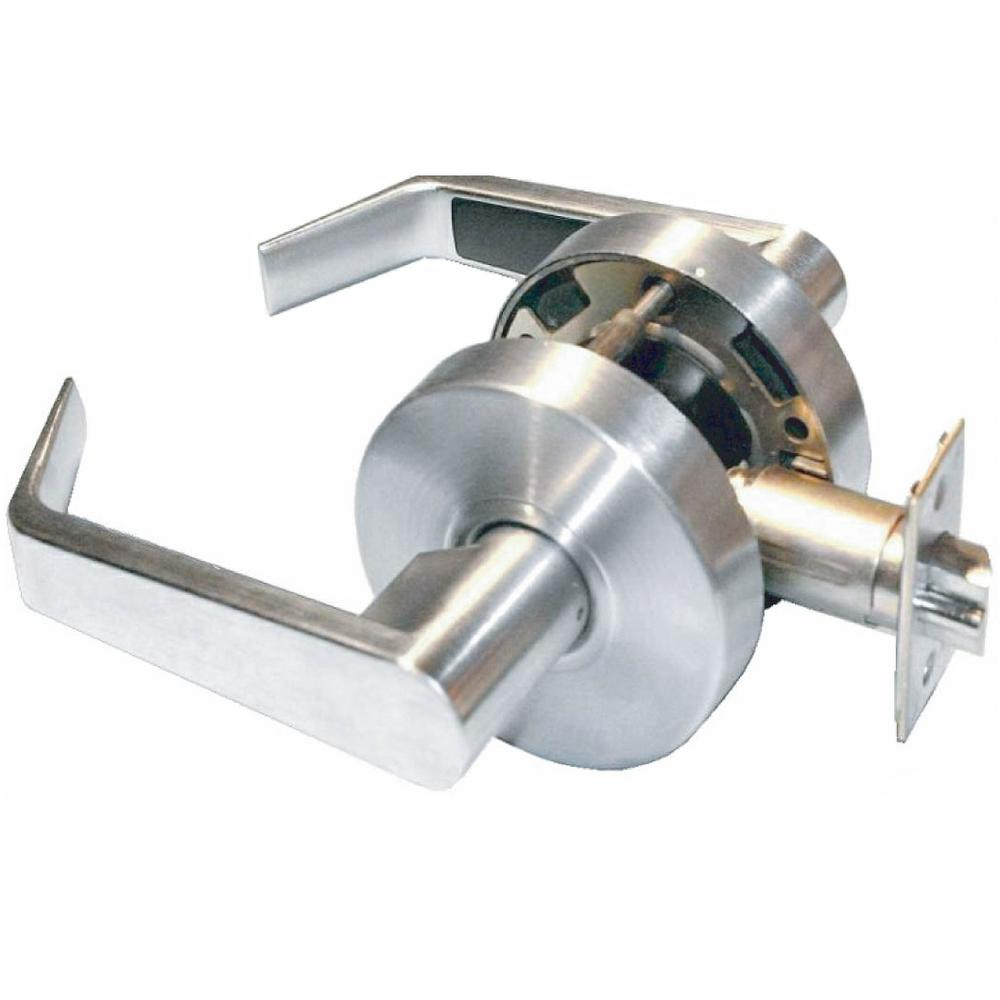 Heavy Duty Grade 1 Commercial Cylindrical Passage Lever in Brushed