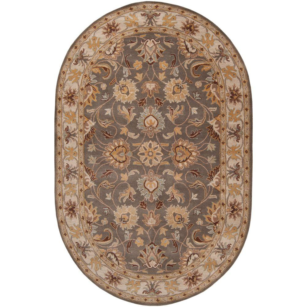John Taupe 8 ft. x 10 ft. Oval Area Rug