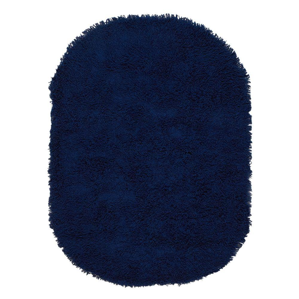 Ultimate Shag Blue 5 ft. x 7 ft. Oval Area Rug