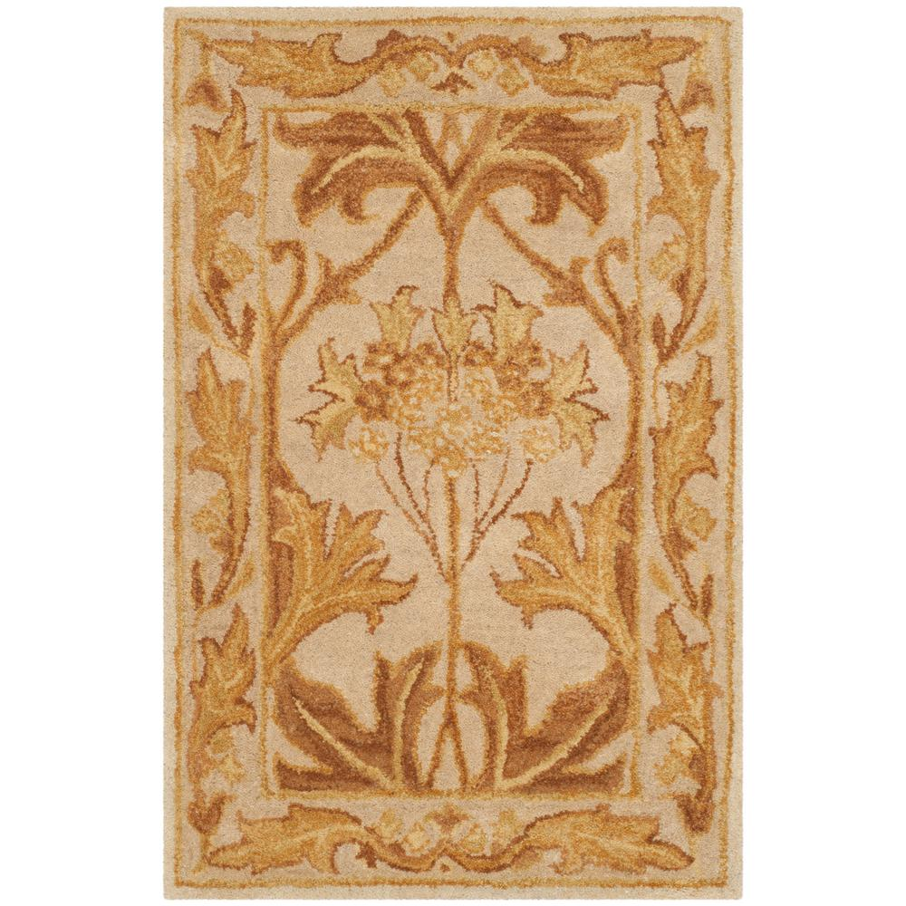 Antiquity Beige/Gold 2 ft. x 3 ft. Area Rug