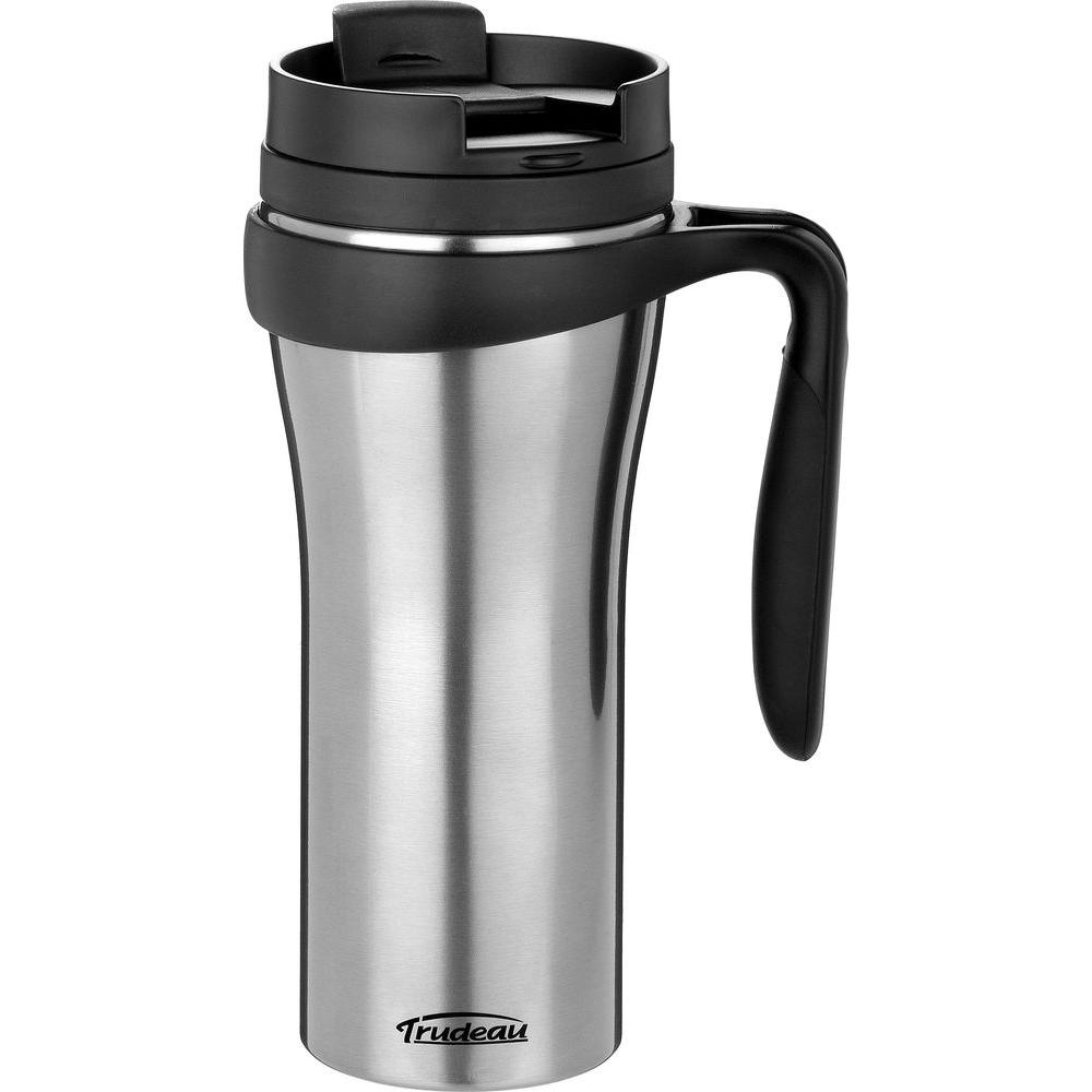 Trudeau 16 oz. Paige Stainless Steel, Double Wall Insulated Travel Mug