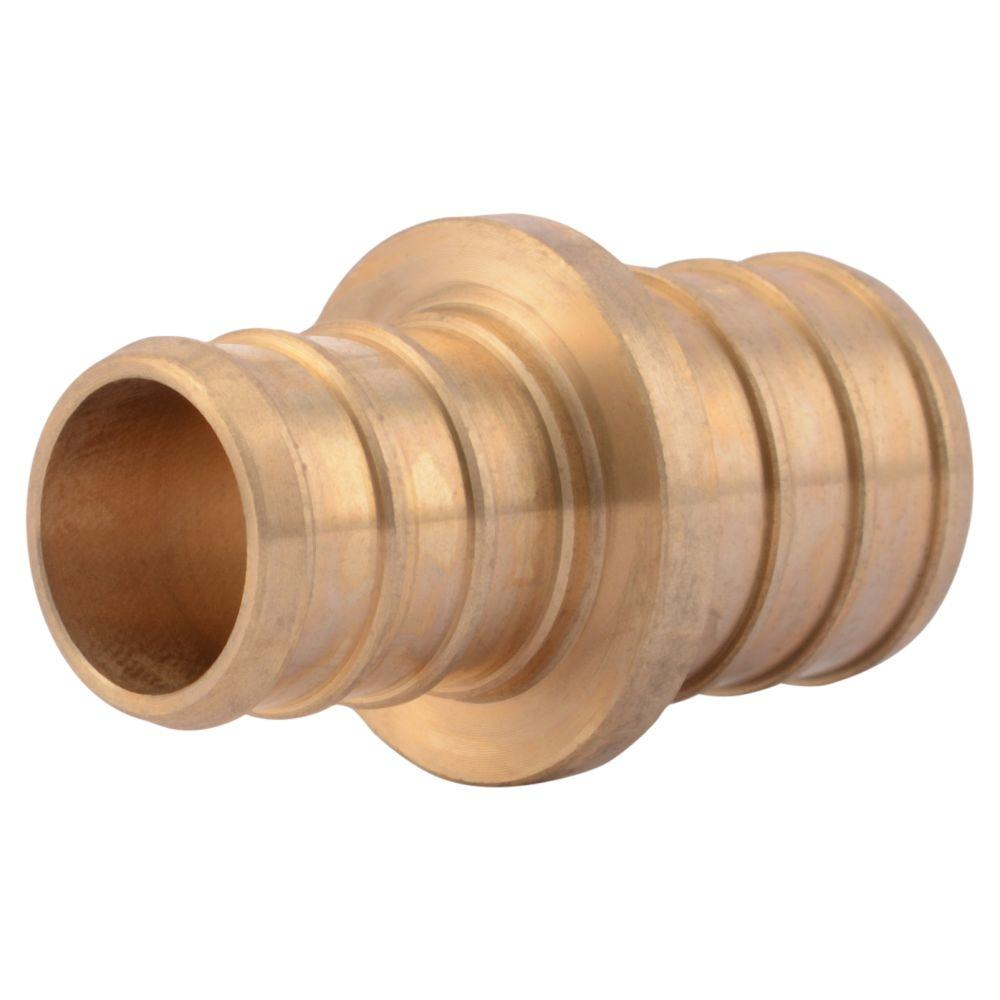3/4 in. x 5/8 in. Brass PEX Barb Reducer Coupling
