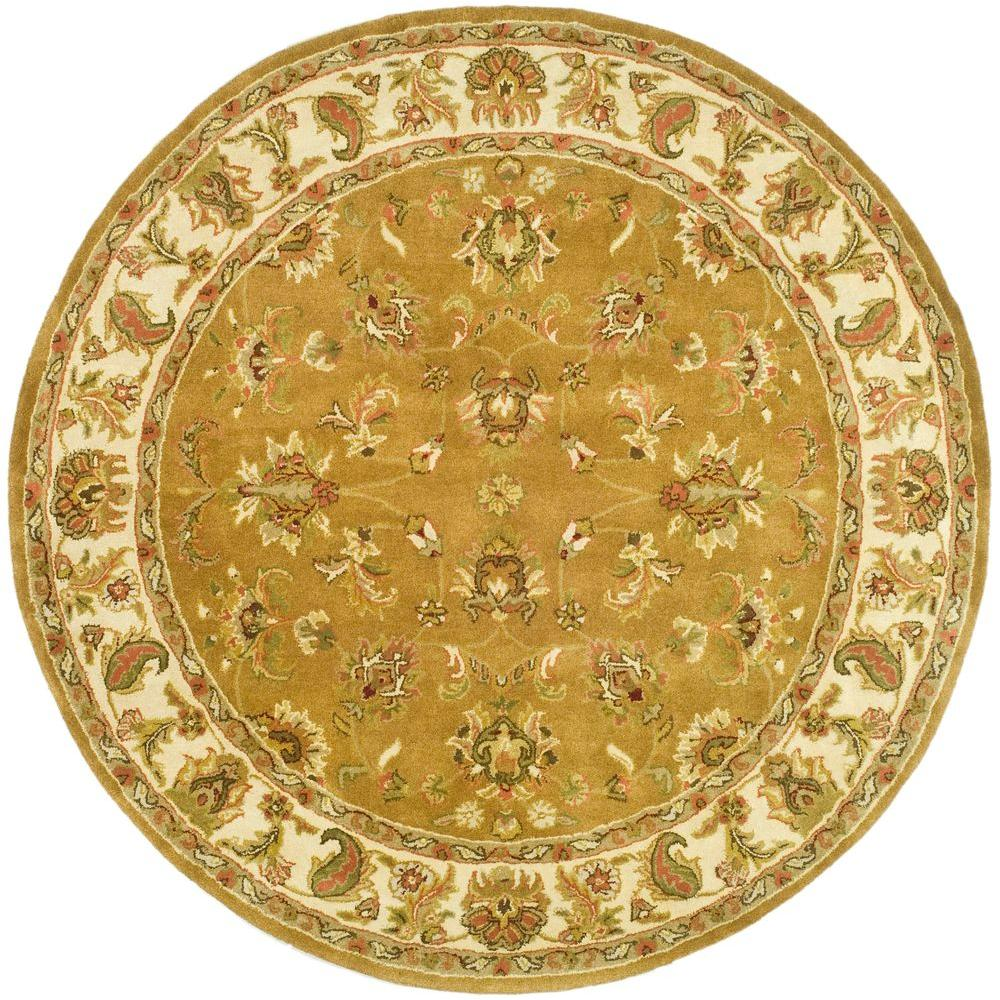 Safavieh Heritage Mocha/Ivory 8 ft. x 8 ft. Round Area Rug-HG816A-8R