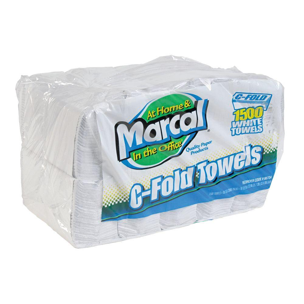 Marcal C-Fold White Paper Towel (10-Pack)